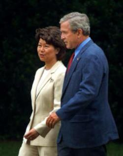 Elaine_chao_and_president_bush